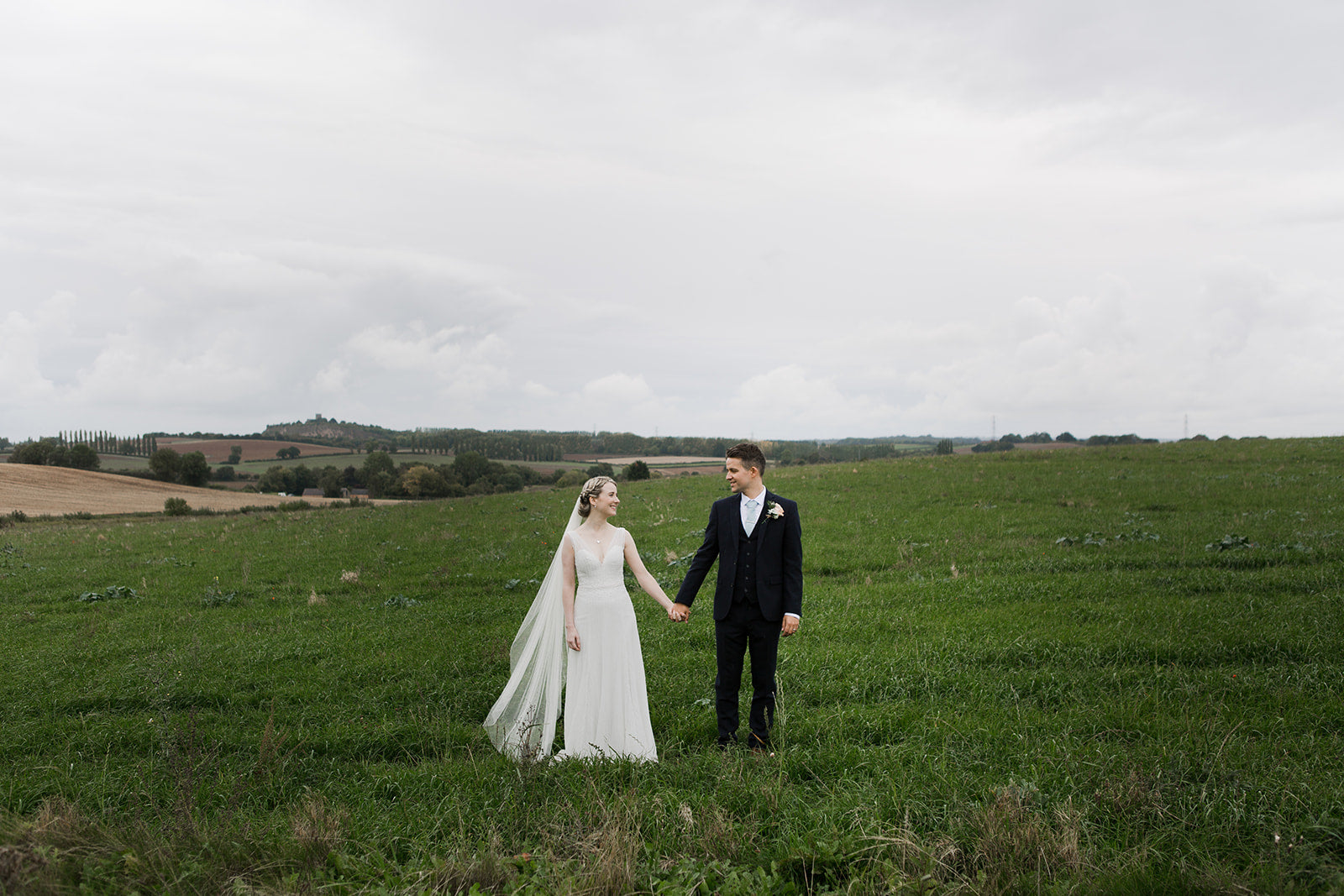 Single tier silk style wedding veil - Isabella | Britten Weddings