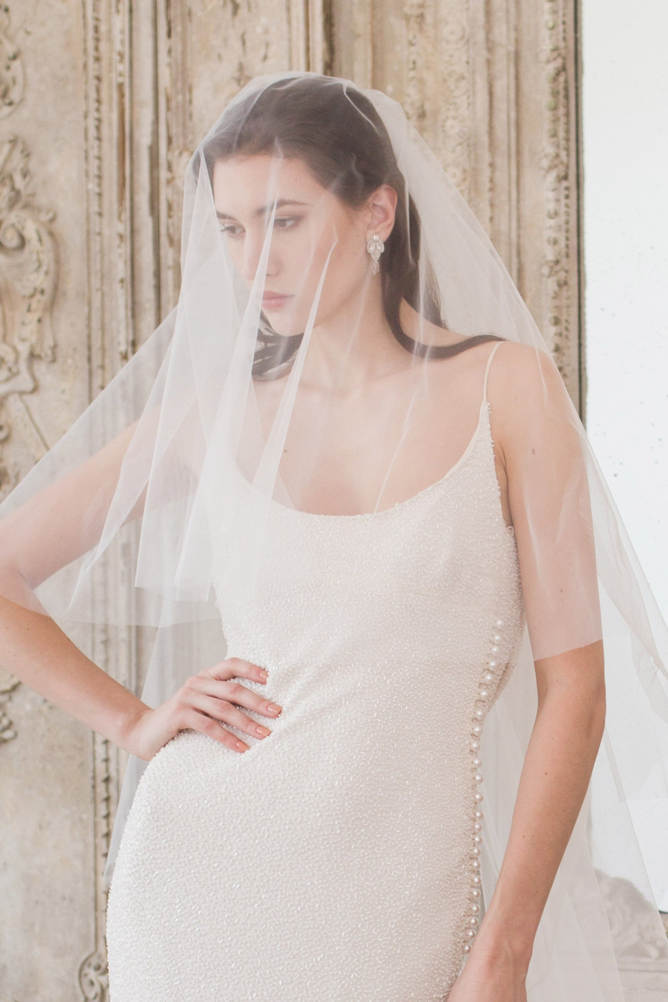 What is The Difference Between a Drop Veil and a Two Tier Wedding Veil?