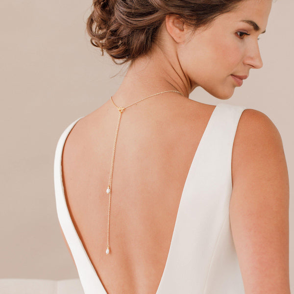 pearl back lariat necklace