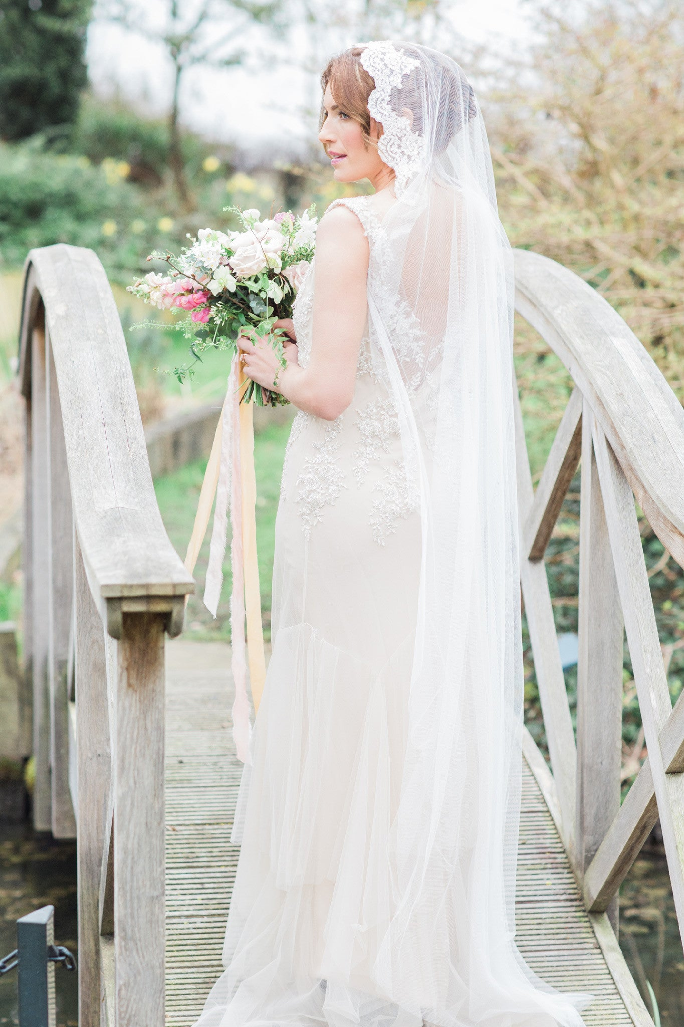 single tier wedding veil