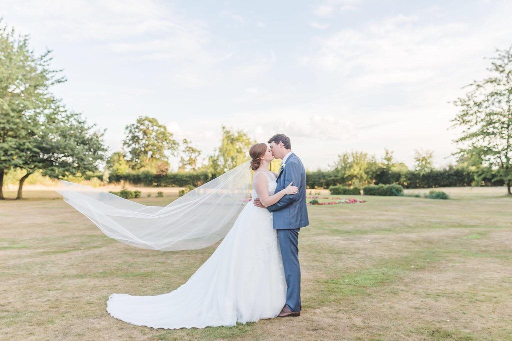 single tier barely there wedding veil