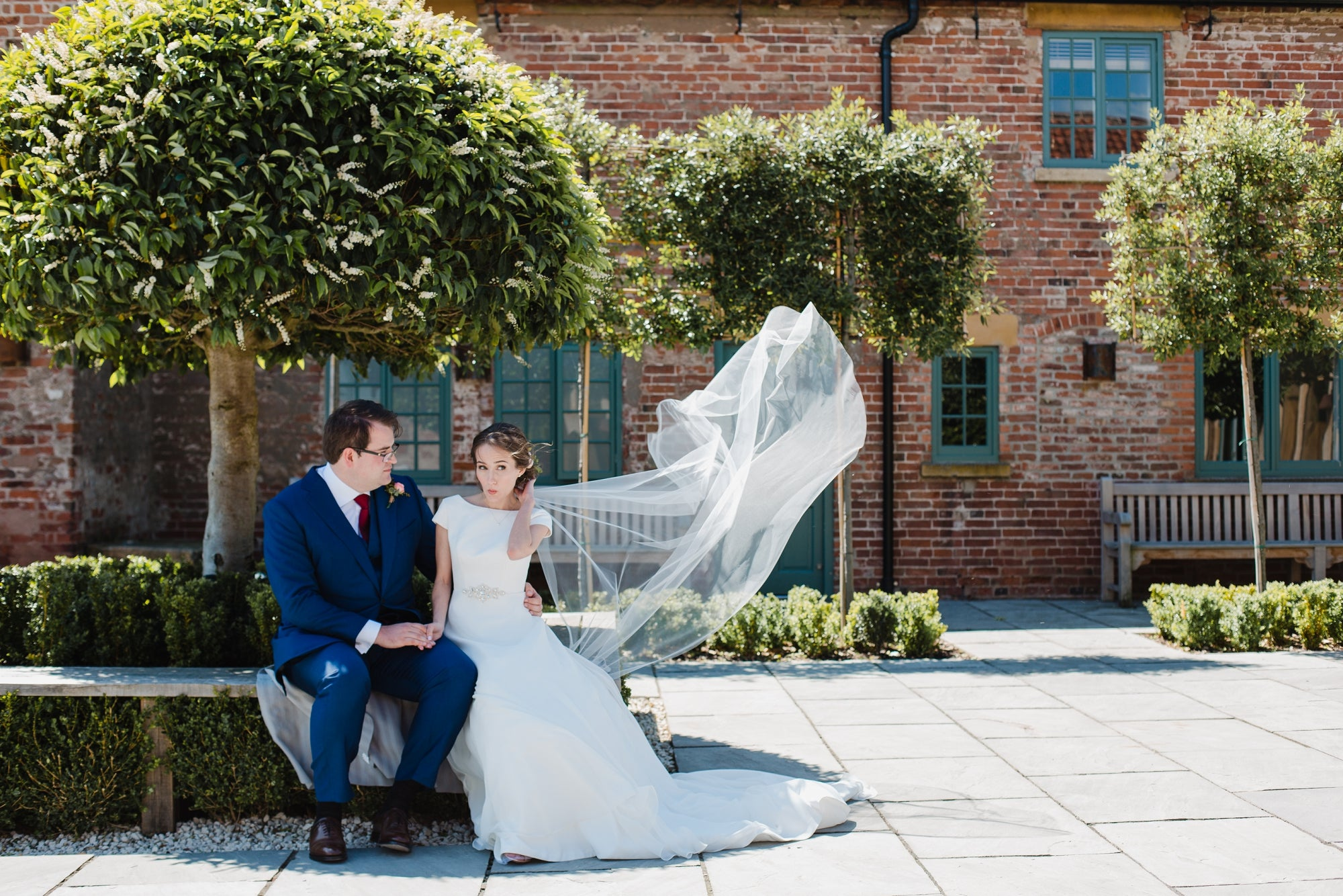 Barely there wedding veil | Skylar | Britten Bride | Julia