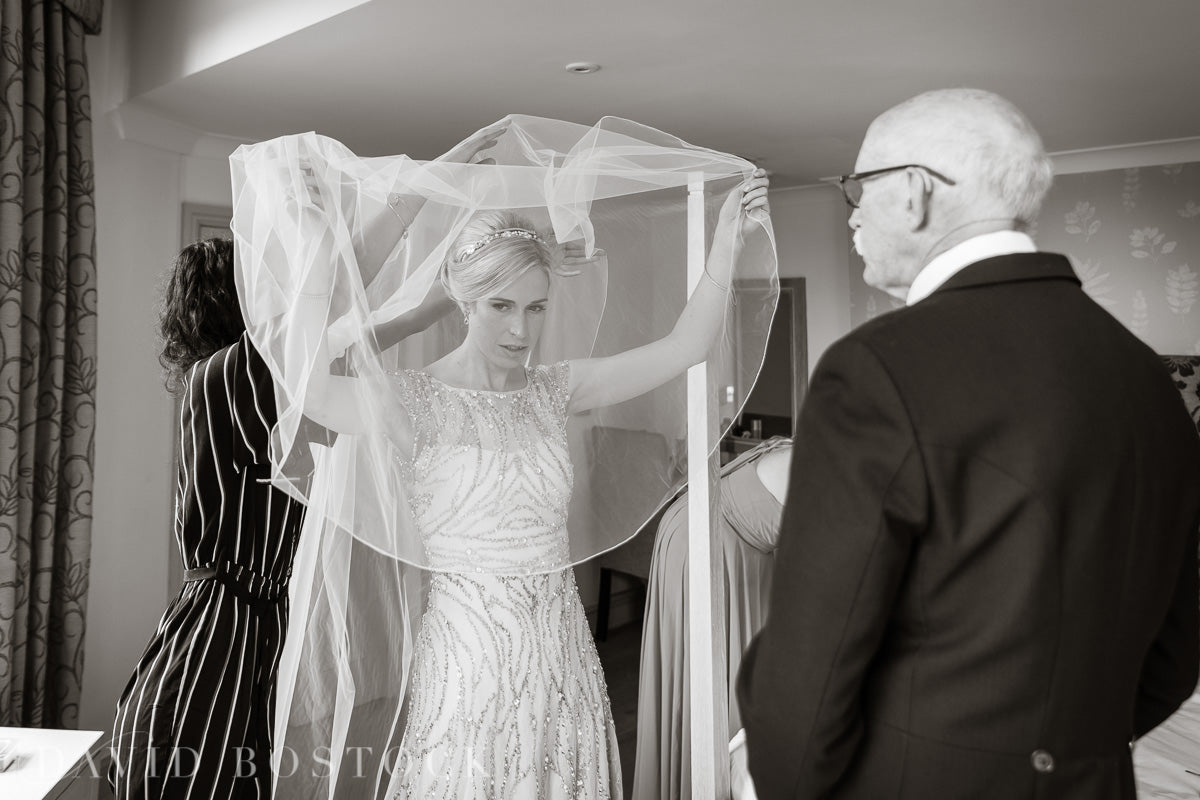 Bespoke Illusion tulle drop veil