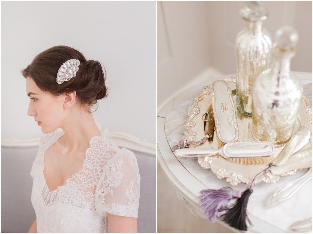 buying bridal hair combs online
