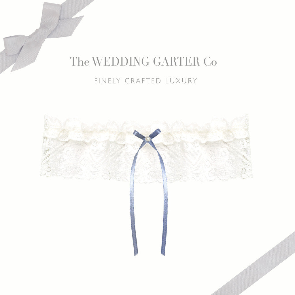Elegant and timeless wedding garter