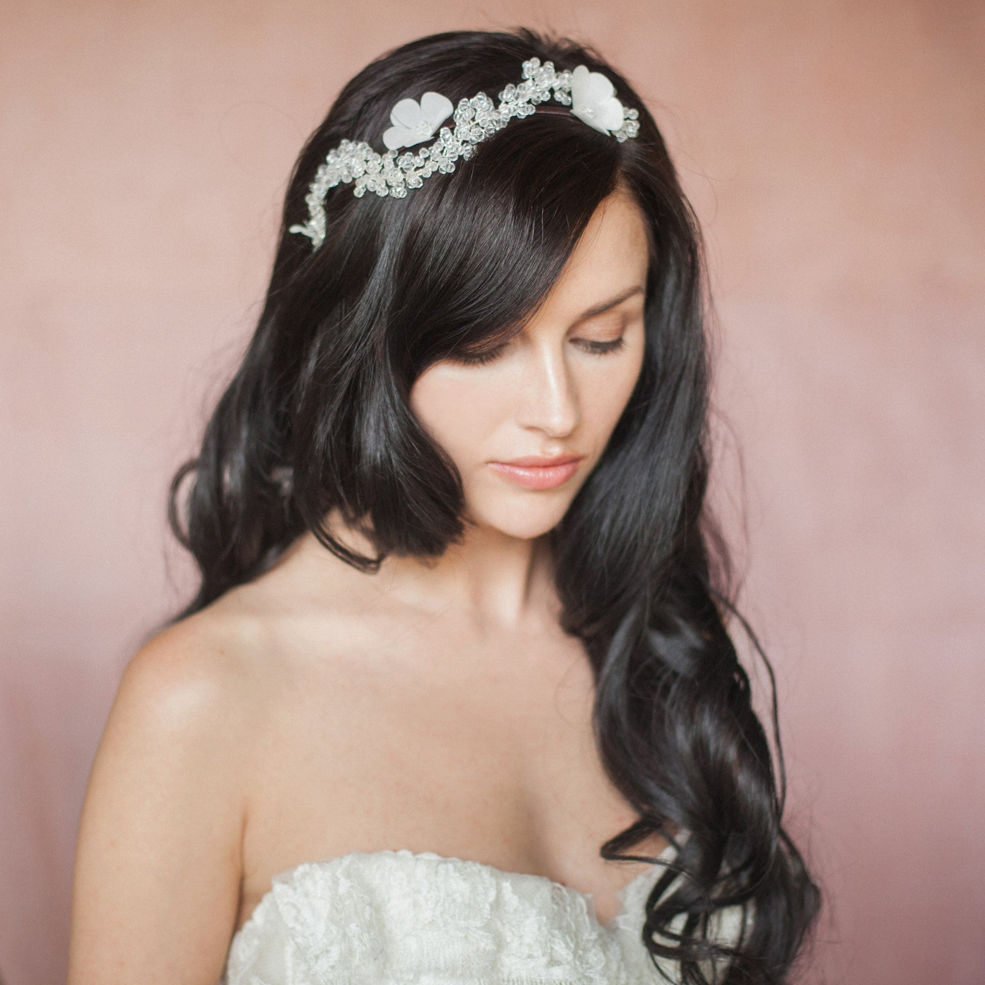 Boho bridal hair vine