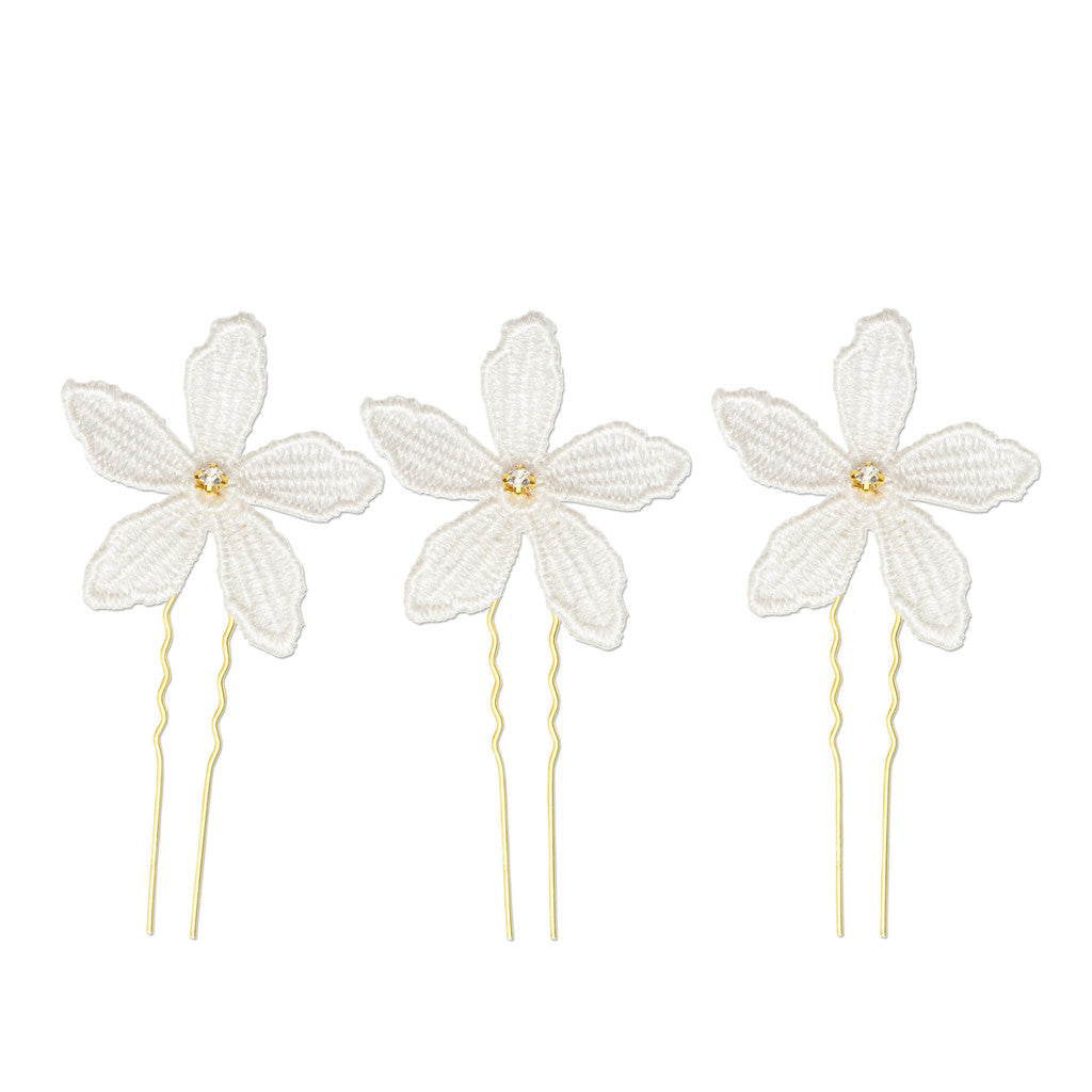 Clemence gold and lace hairpin by Britten