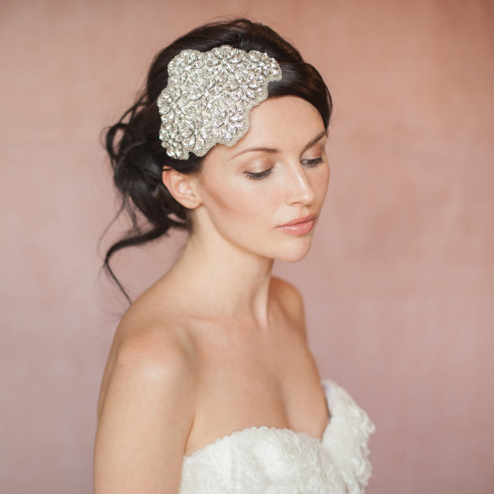 crystal wedding headband on our Etsy sample sale