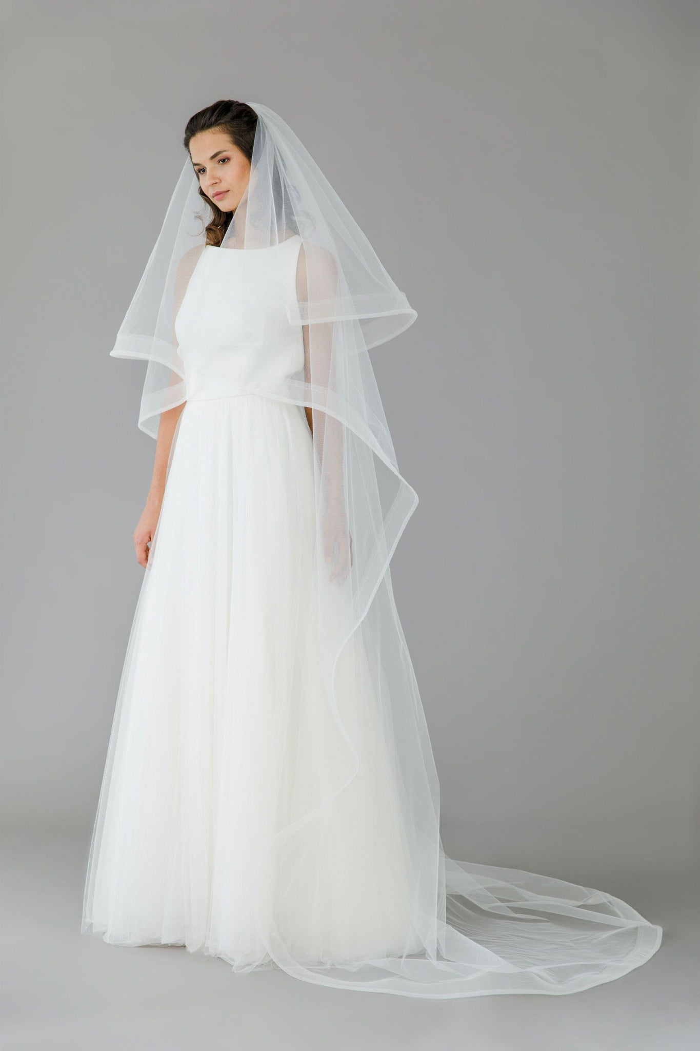 Horsehair two tier wedding veil - 'Atlas'