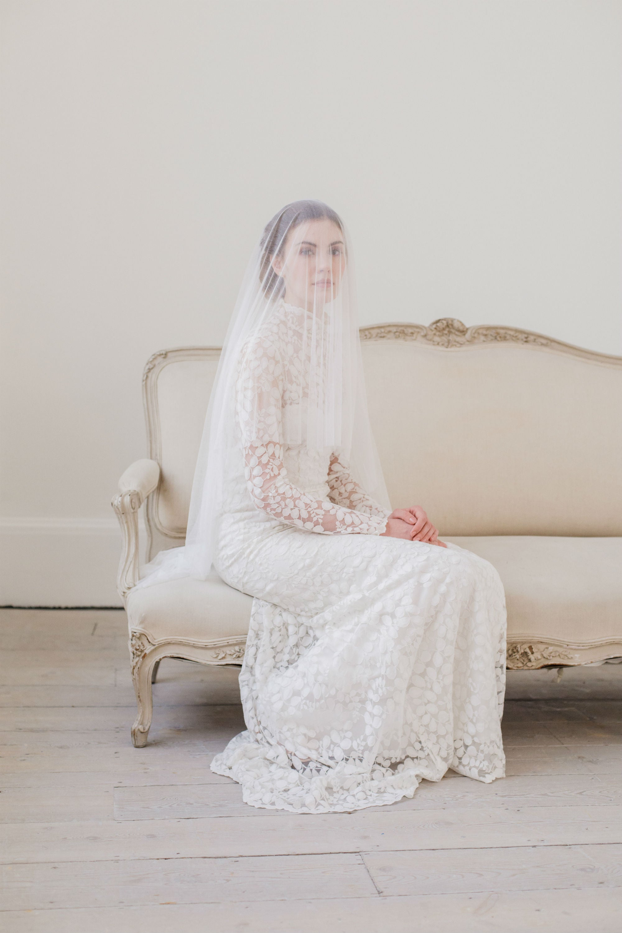 pure silk drop wedding veil