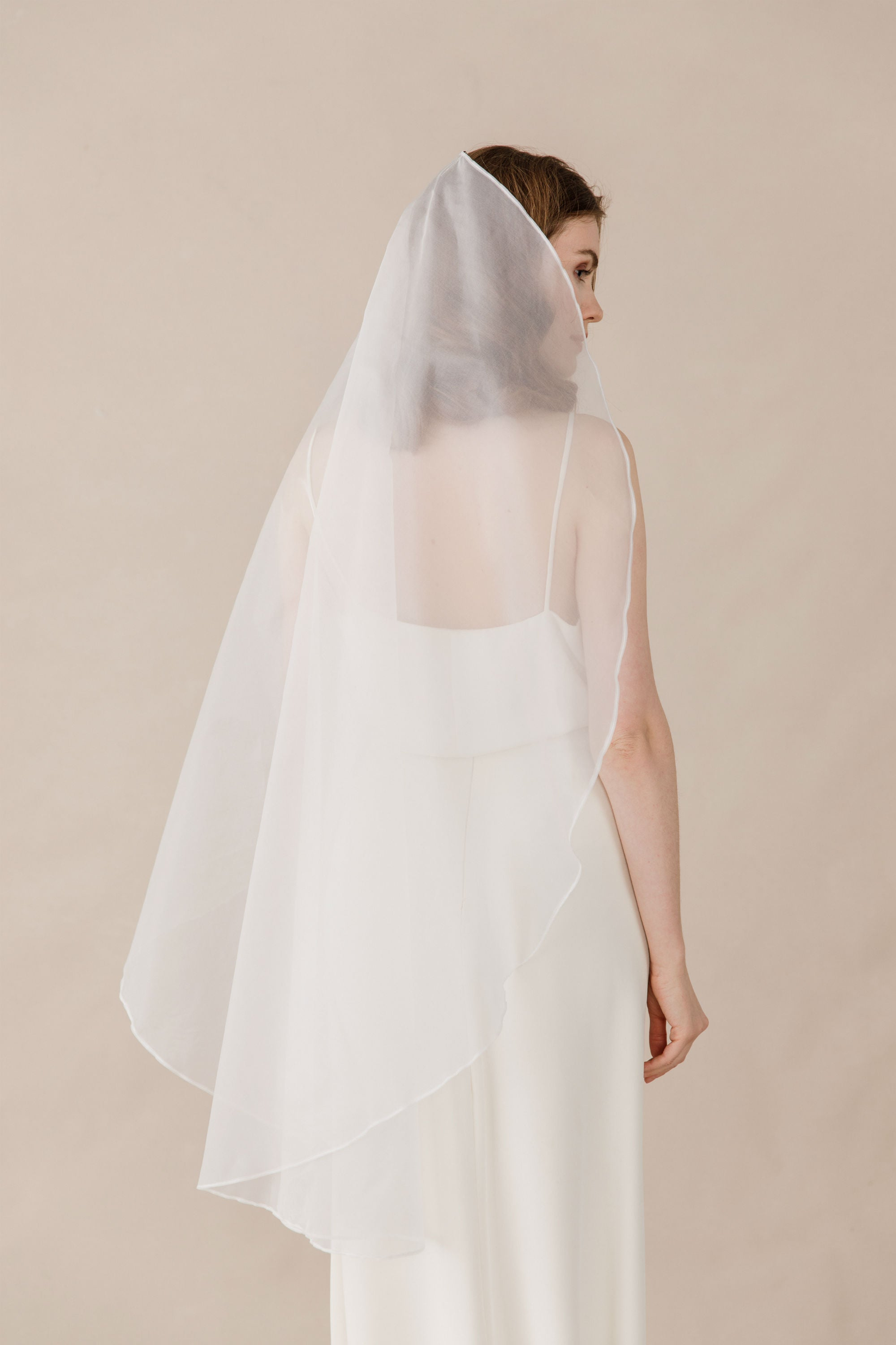 silk organza wedding veil