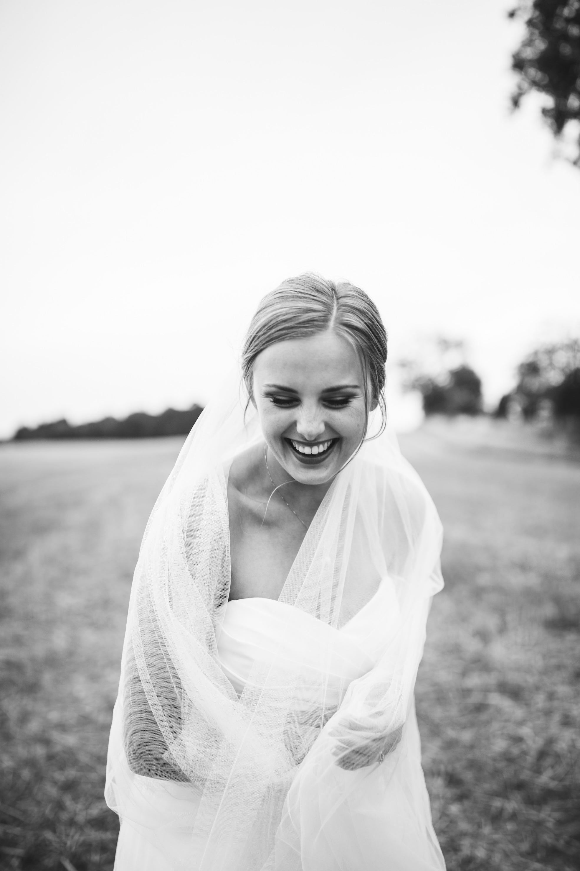 Cut edge silk style wedding veil with extra long blusher - Layla - Britten Bride - Brooke