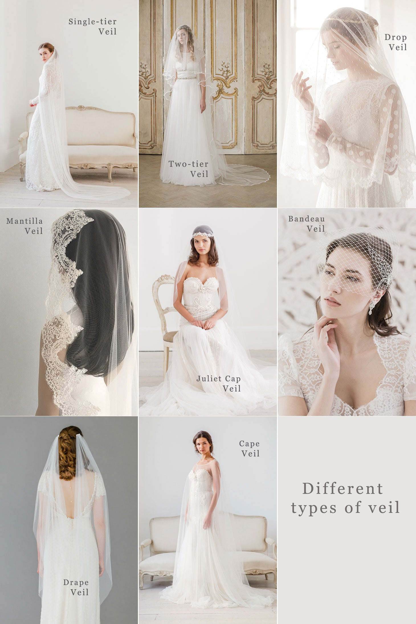 different types of veil