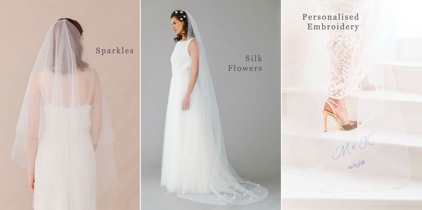 what are the different finishes you add to your veil