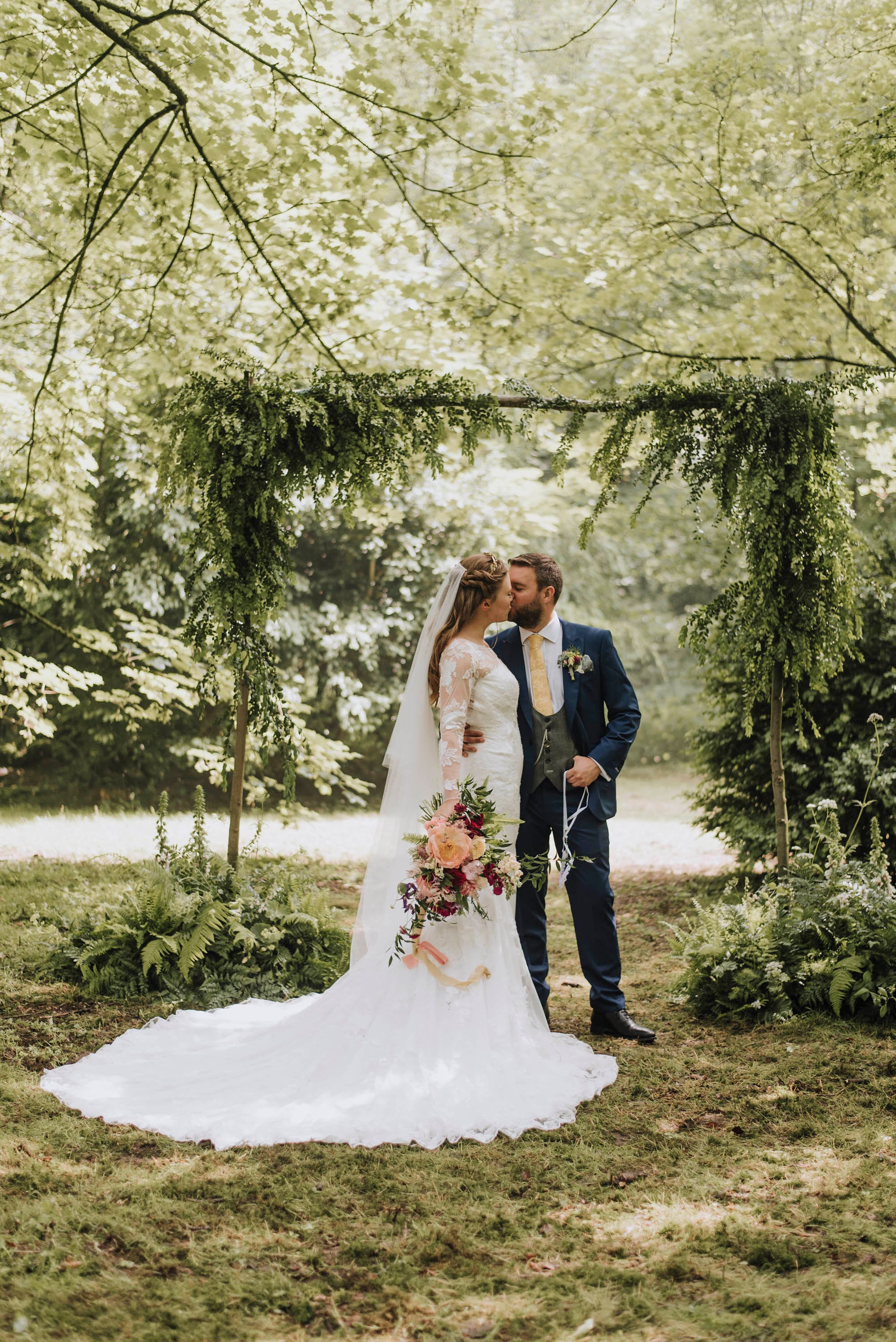Drop Silk Style Wedding Veil -Aspen - Britten Bride - Sophie