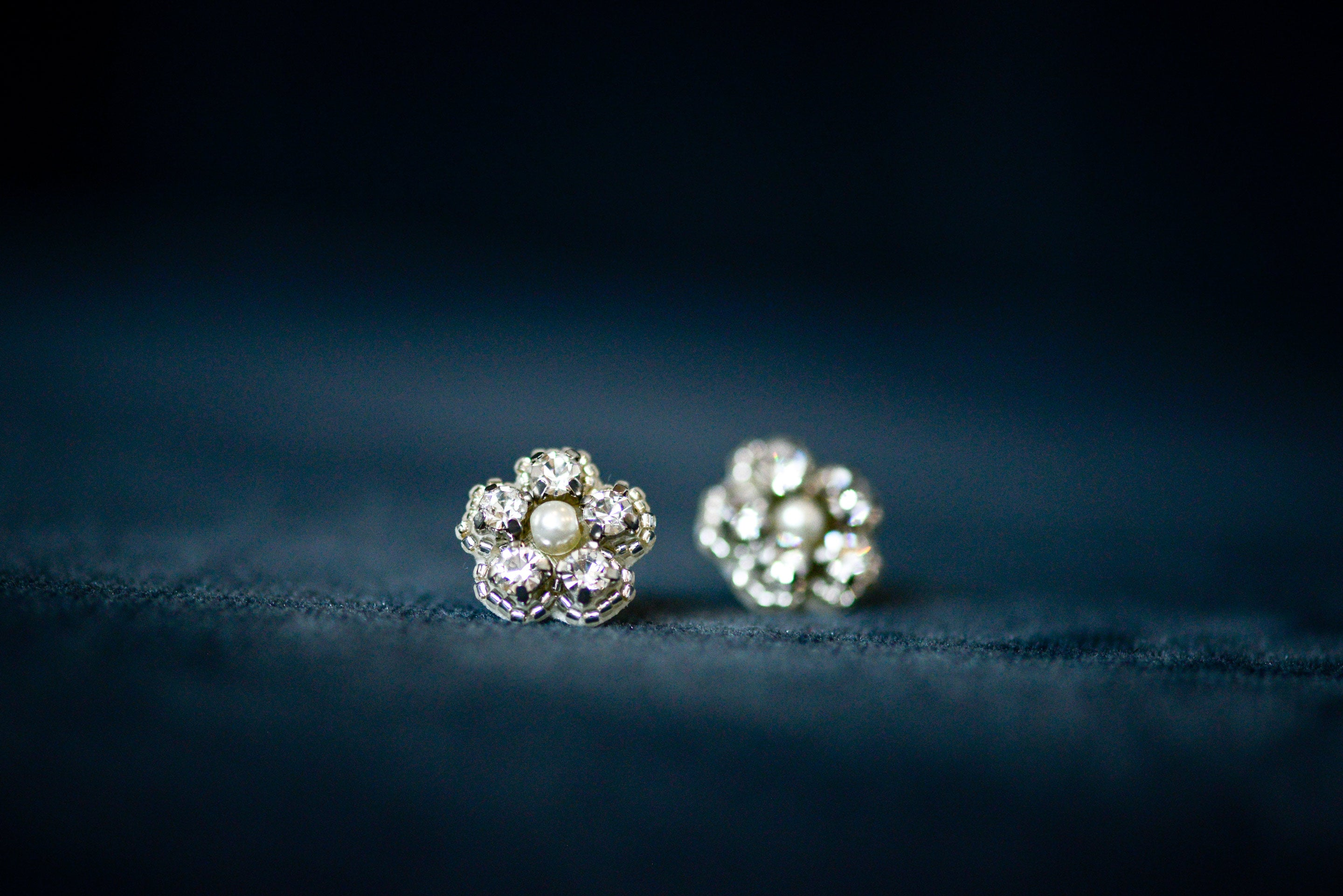 Flori bridal studs by Britten weddings