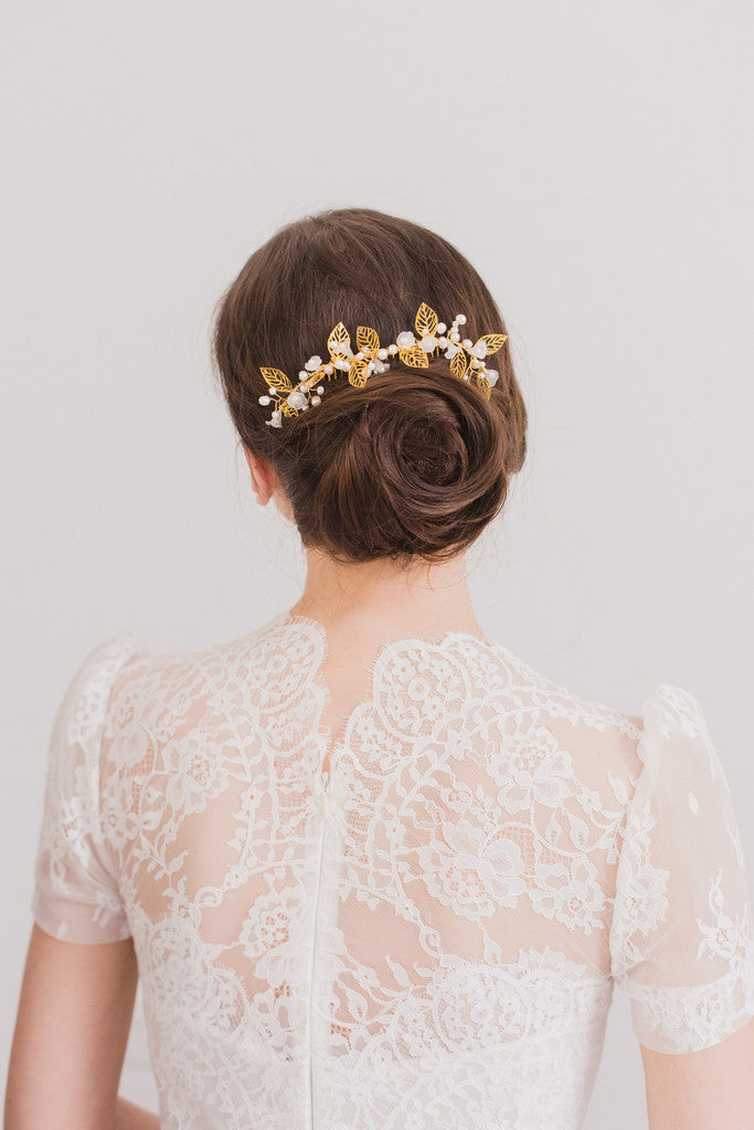 wedding hair combs for buns