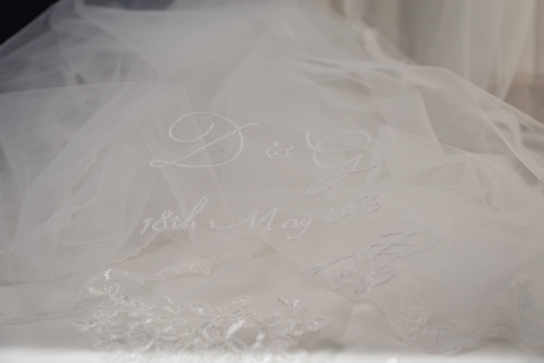 Hand embroidered wedding veil - Britten Bride - Georgia