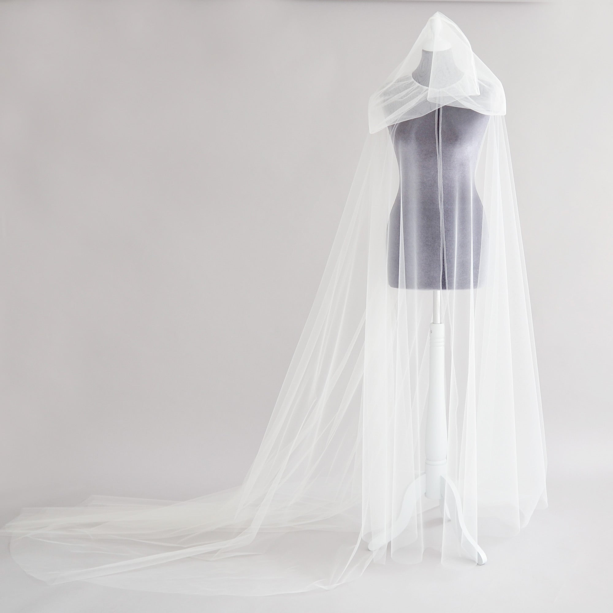 hooded bridal cape