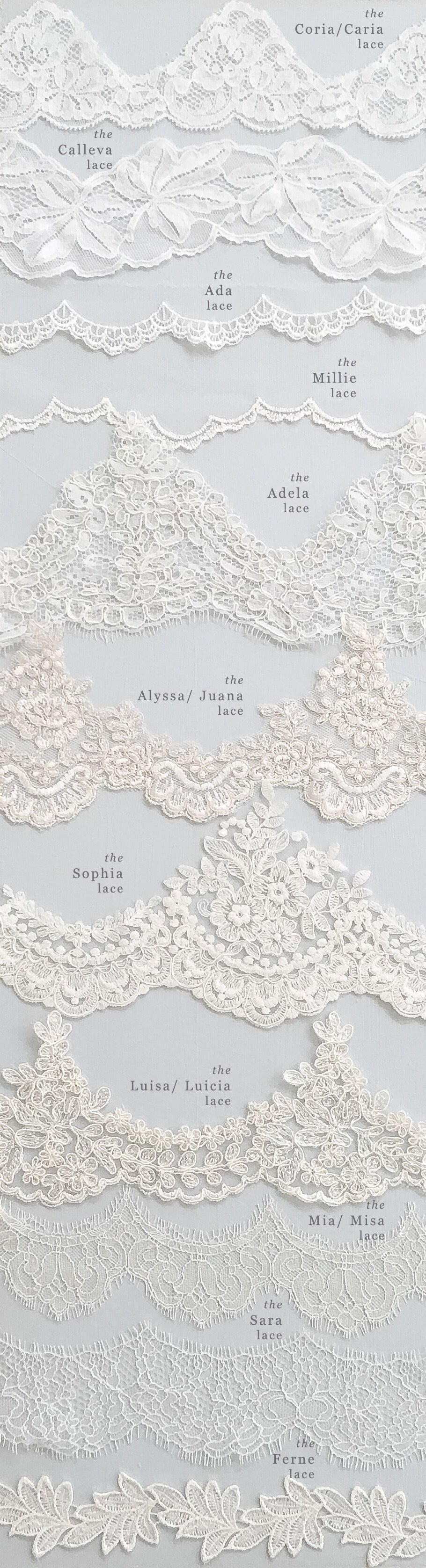 veil lace wedding options