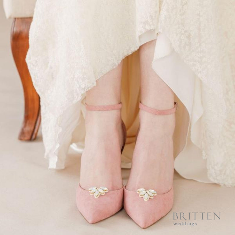 Opal Wedding Shoe Clips| Britten Weddings Blog | What is a Bridal Shoe Clip