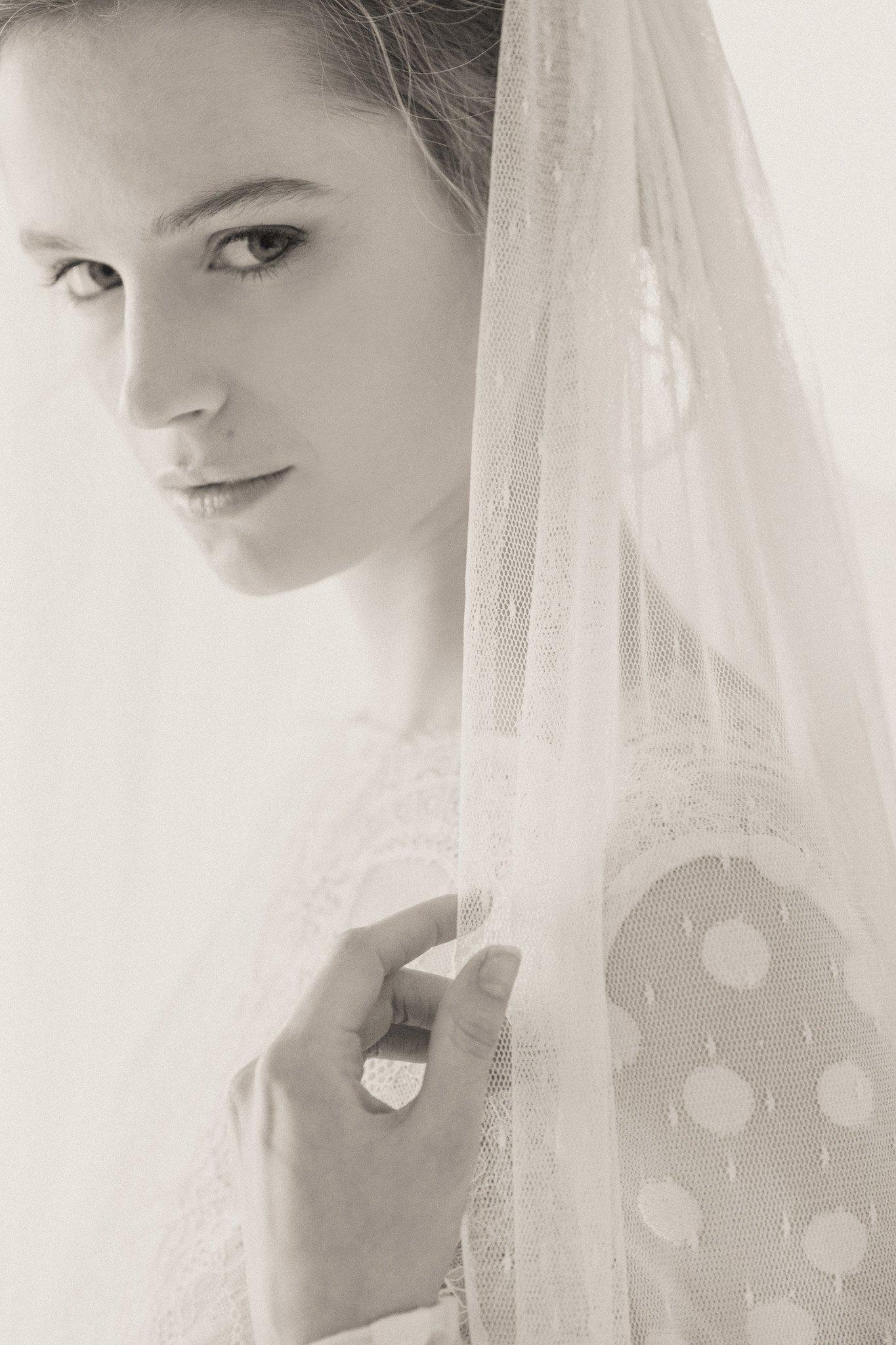 Polka dot wedding veil - 'Dot'