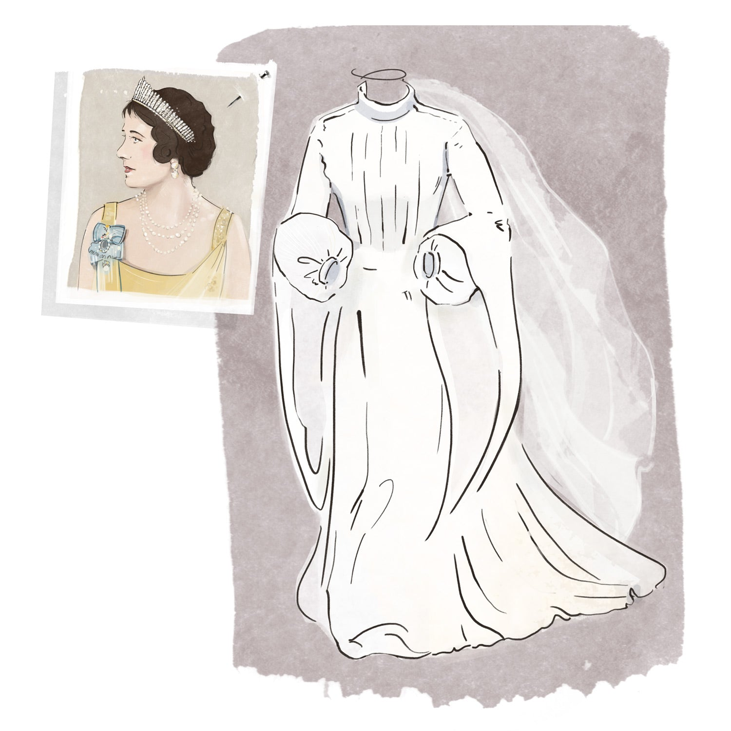 princess anne wedding dress