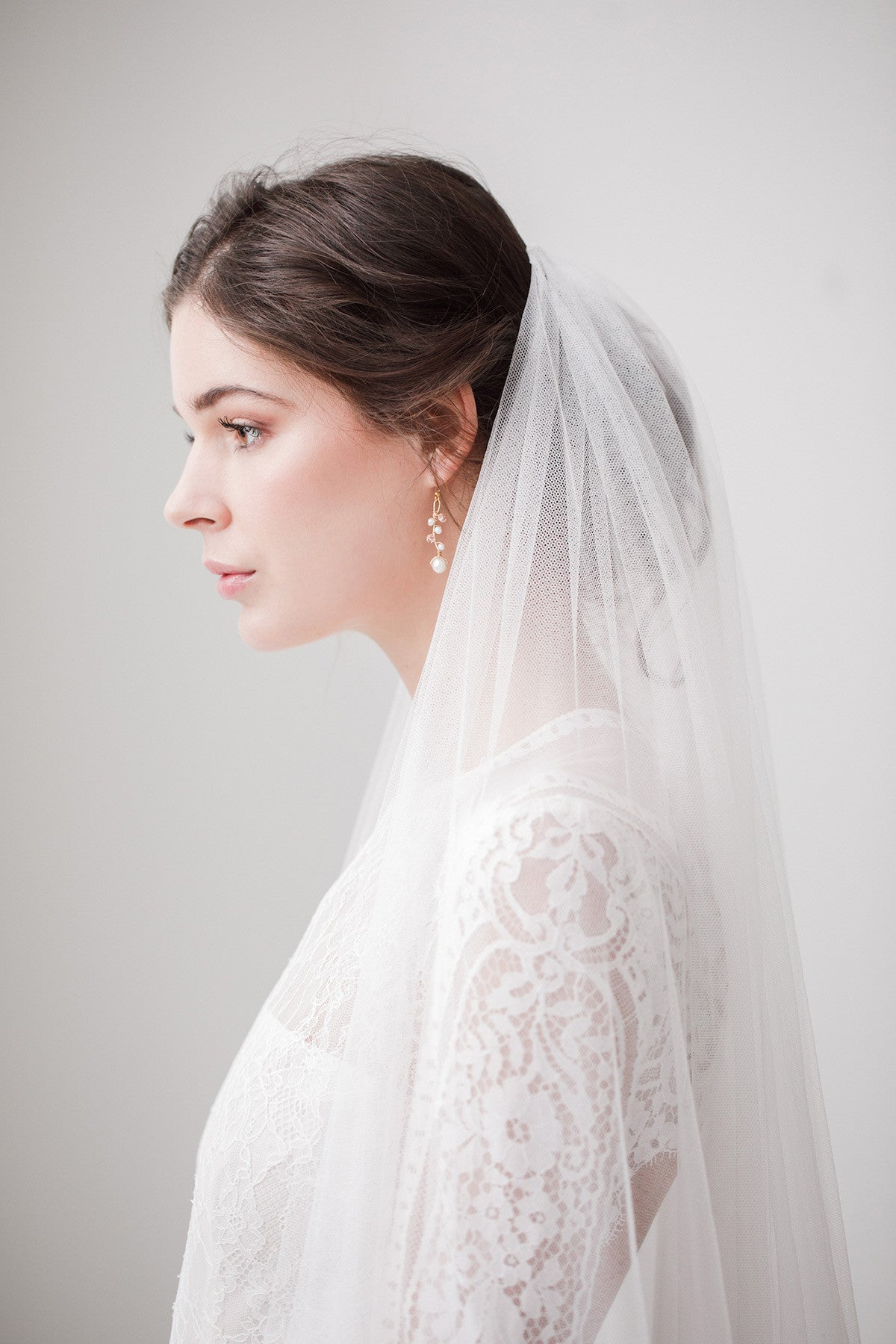silk wedding veil single tier