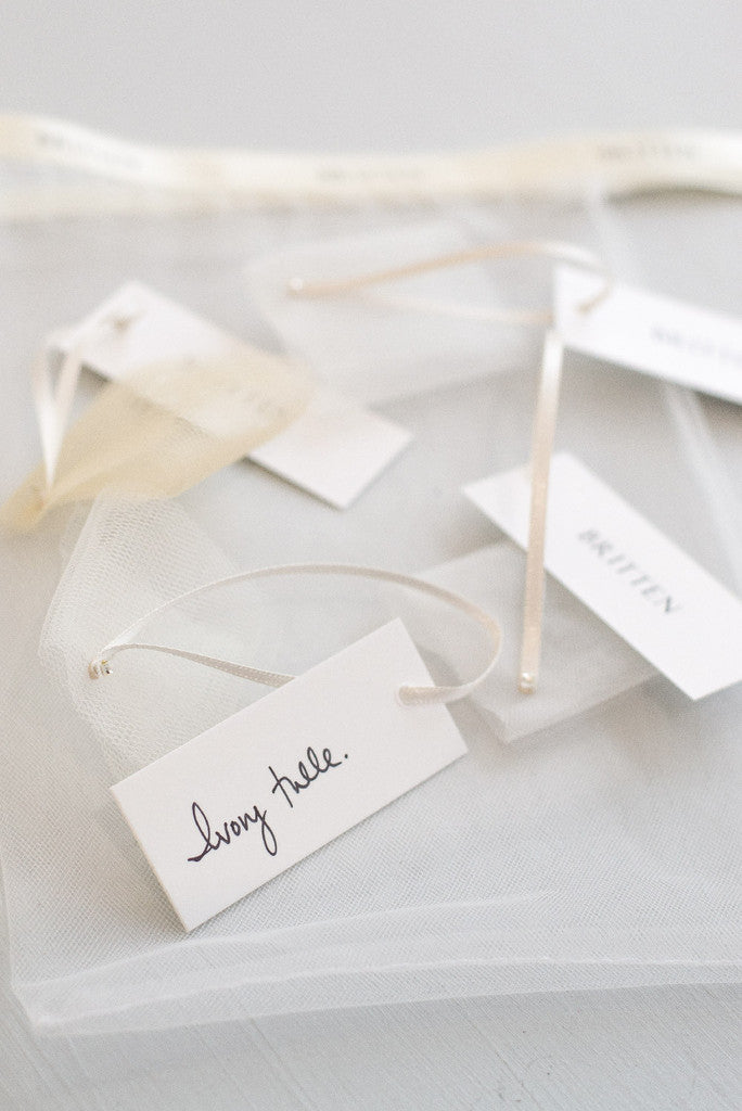 Tulle veil sample pack