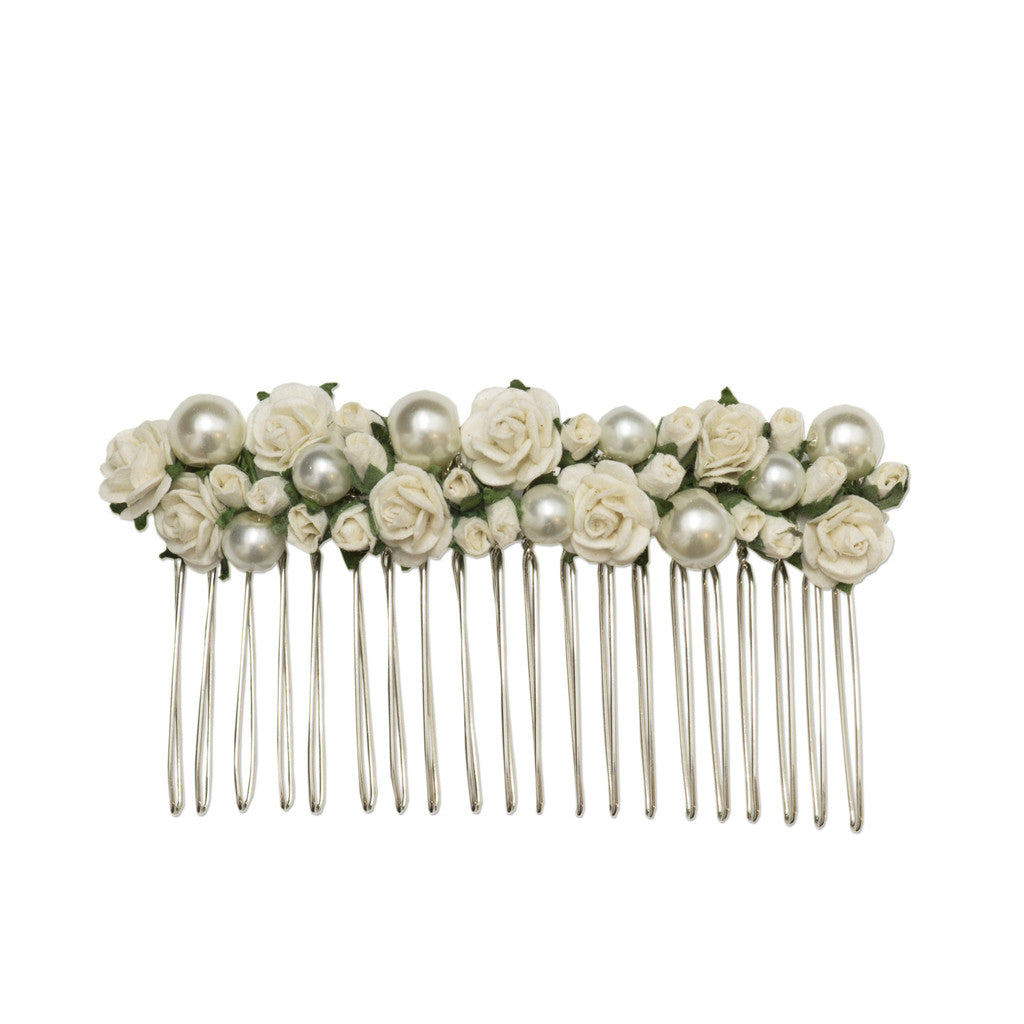 rosa pearl and rose bridal hair comb by Britten Weddings