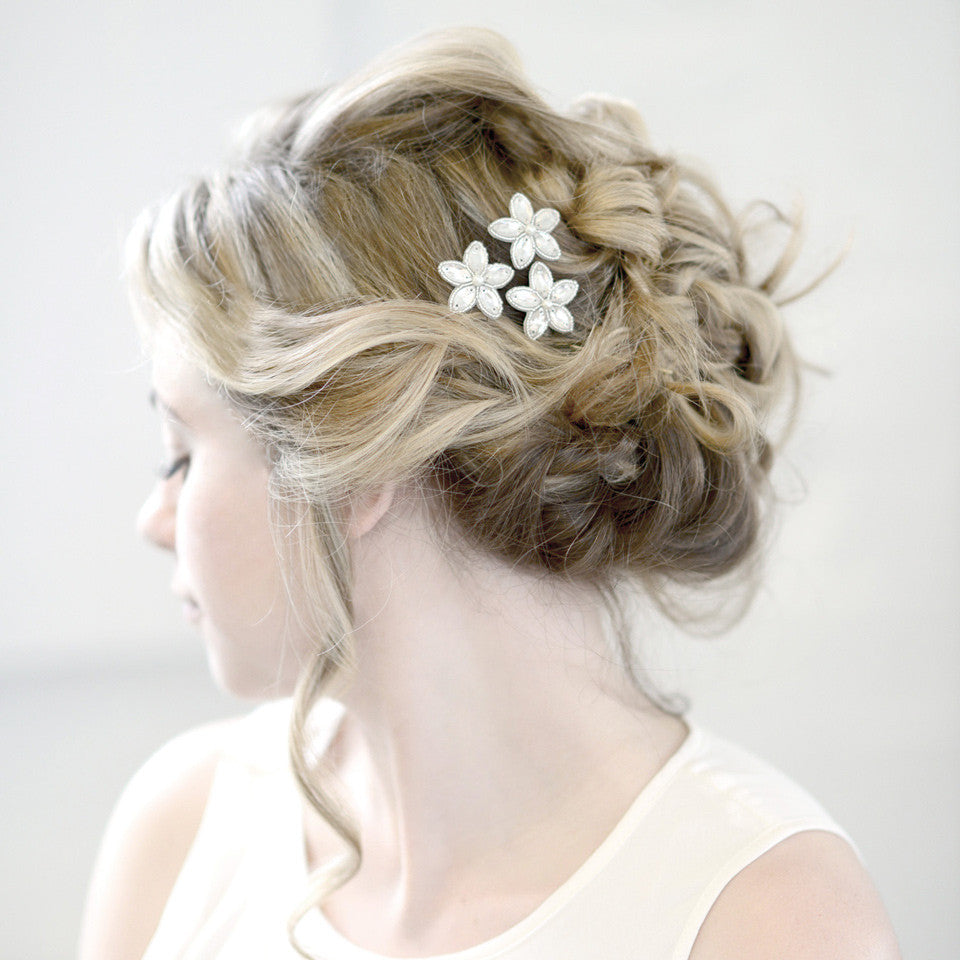 wedding hair pins with pearls