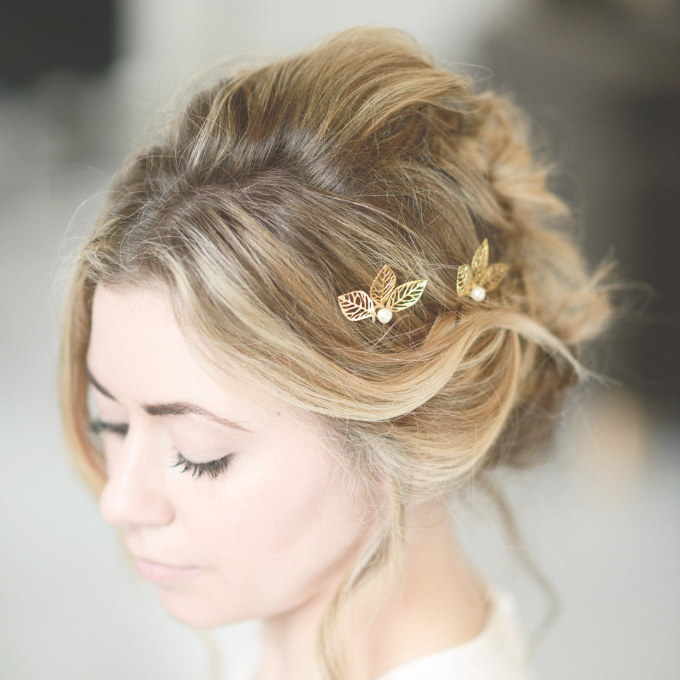 gold hair pin designs