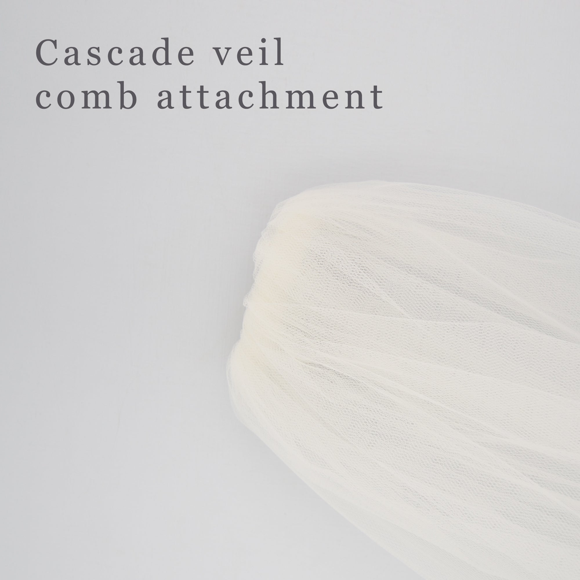 cascade veil comb attachment