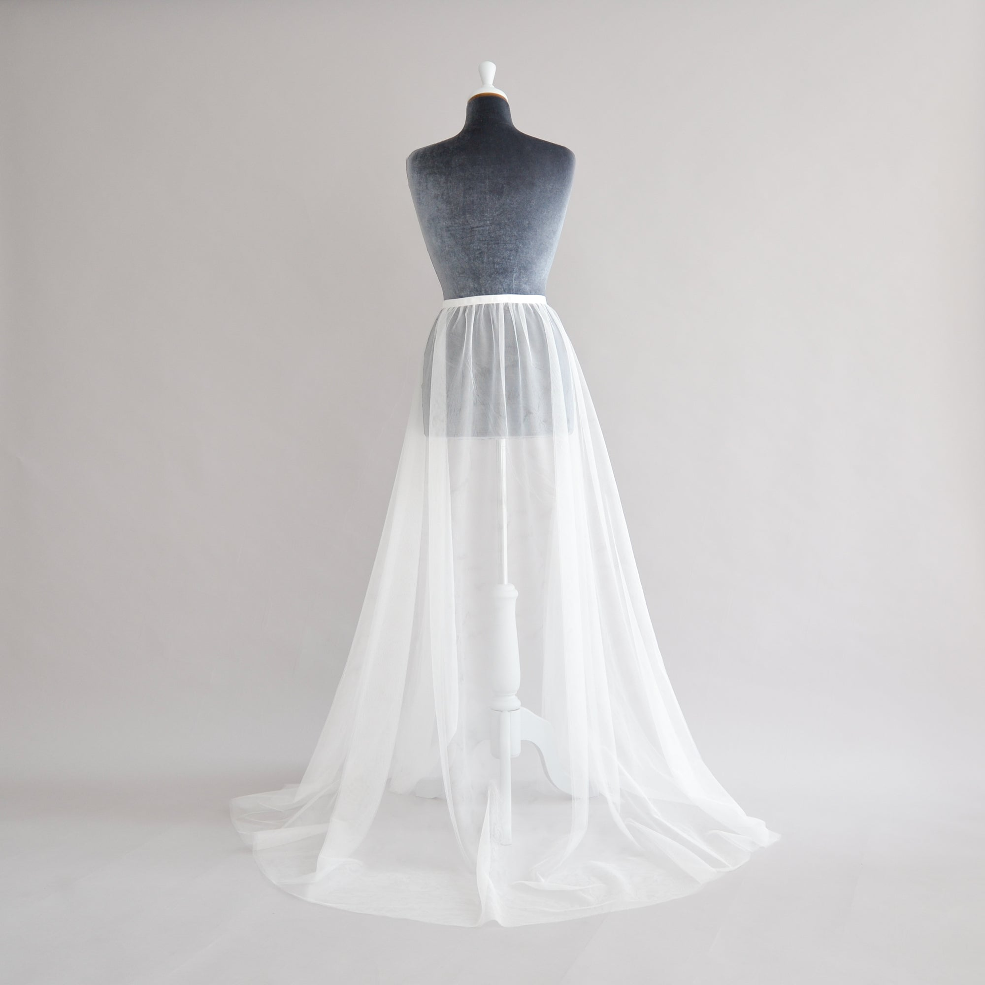 tulle over-skirt