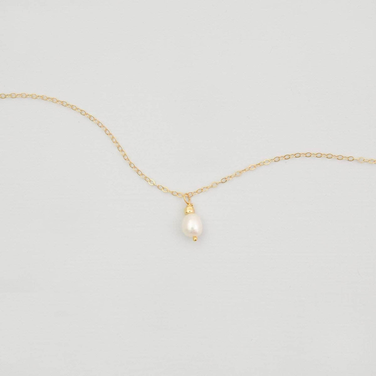 14k gold fill close up freshwater pearl