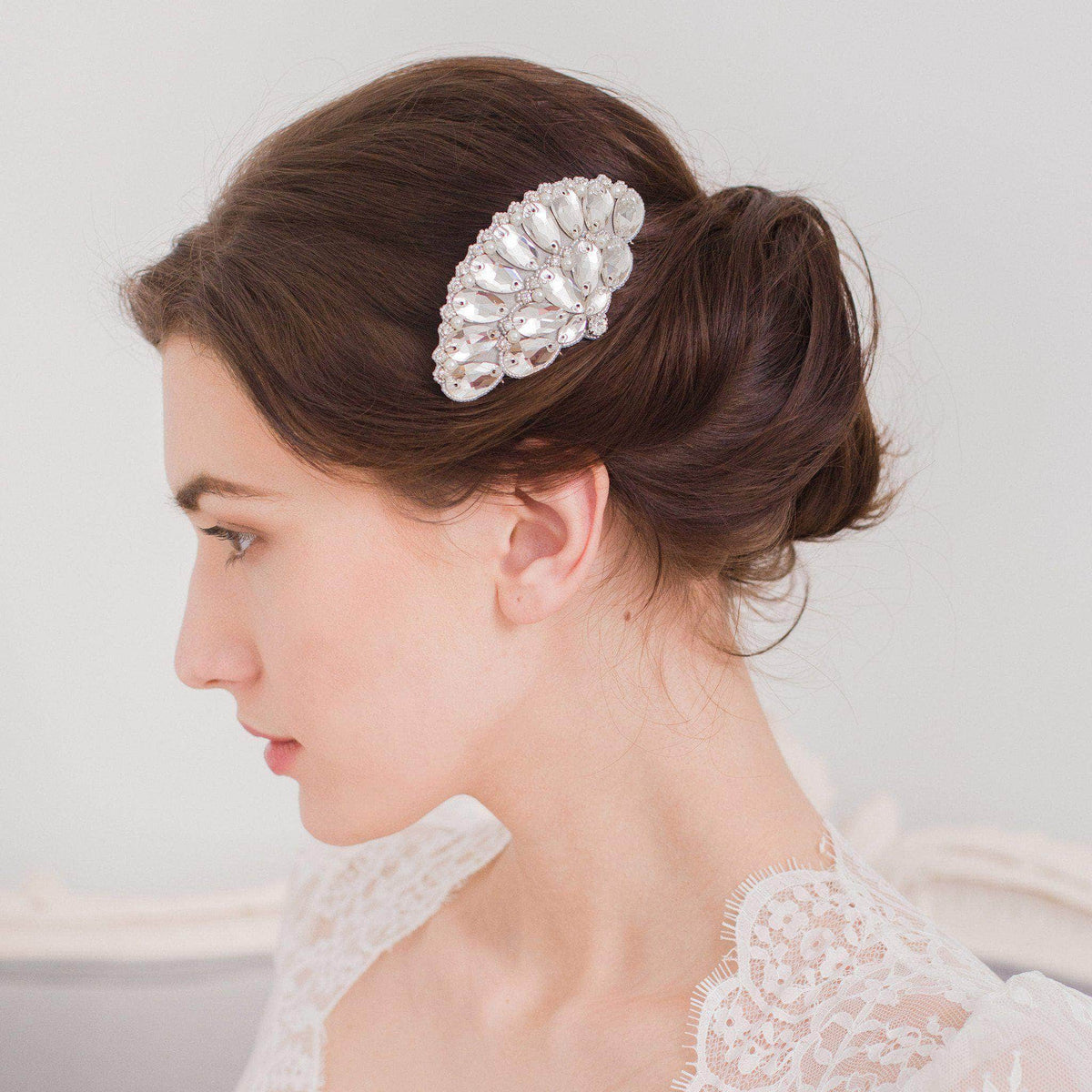 Wedding Haircomb Silver 1920's wedding hair comb - 'Iolanthe'