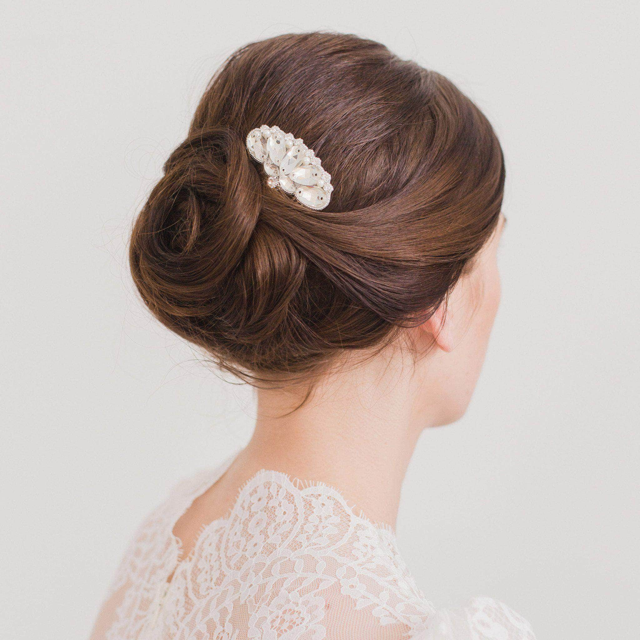 deco wedding hair comb