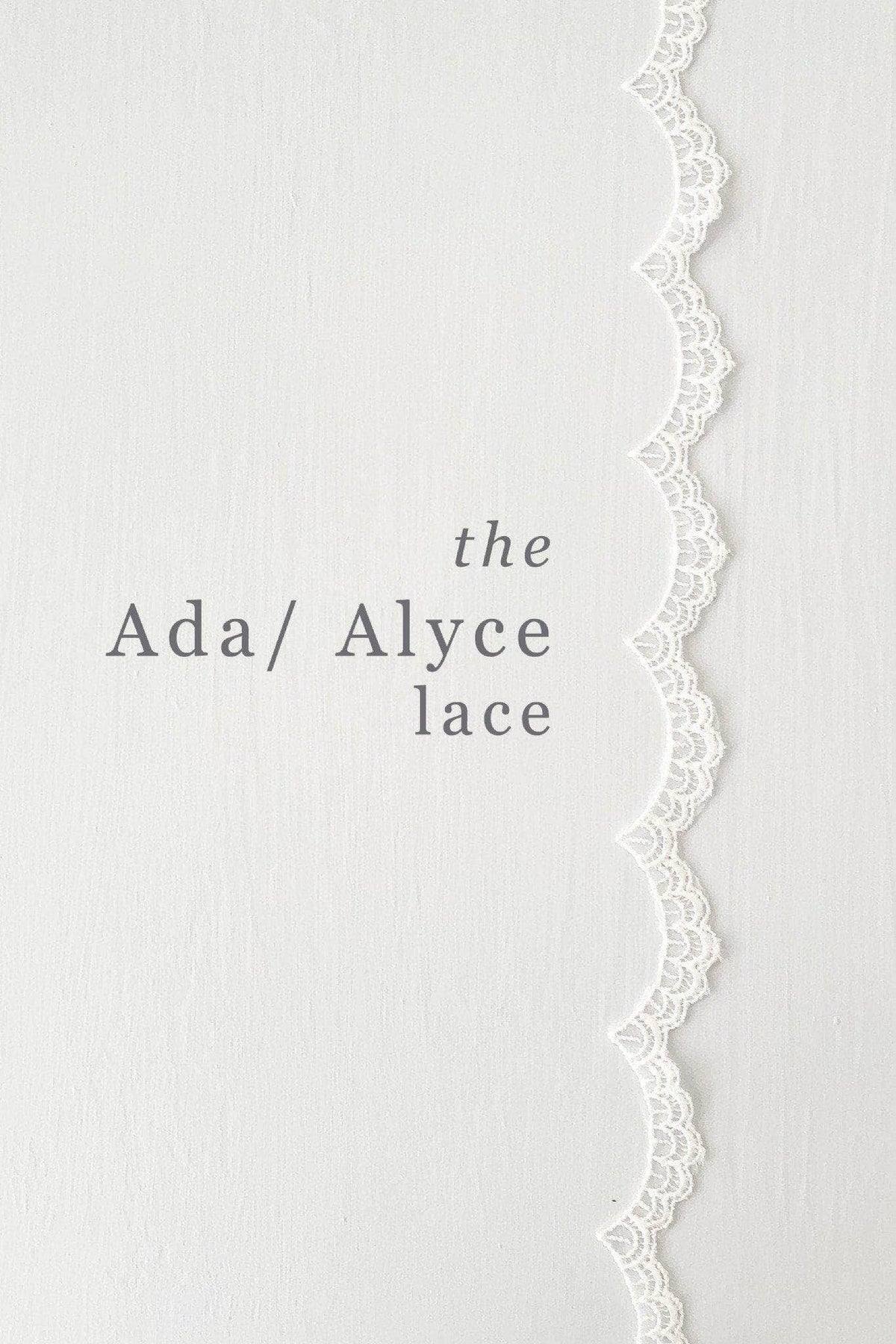 Lace edged drop wedding veil - 'Alyce'