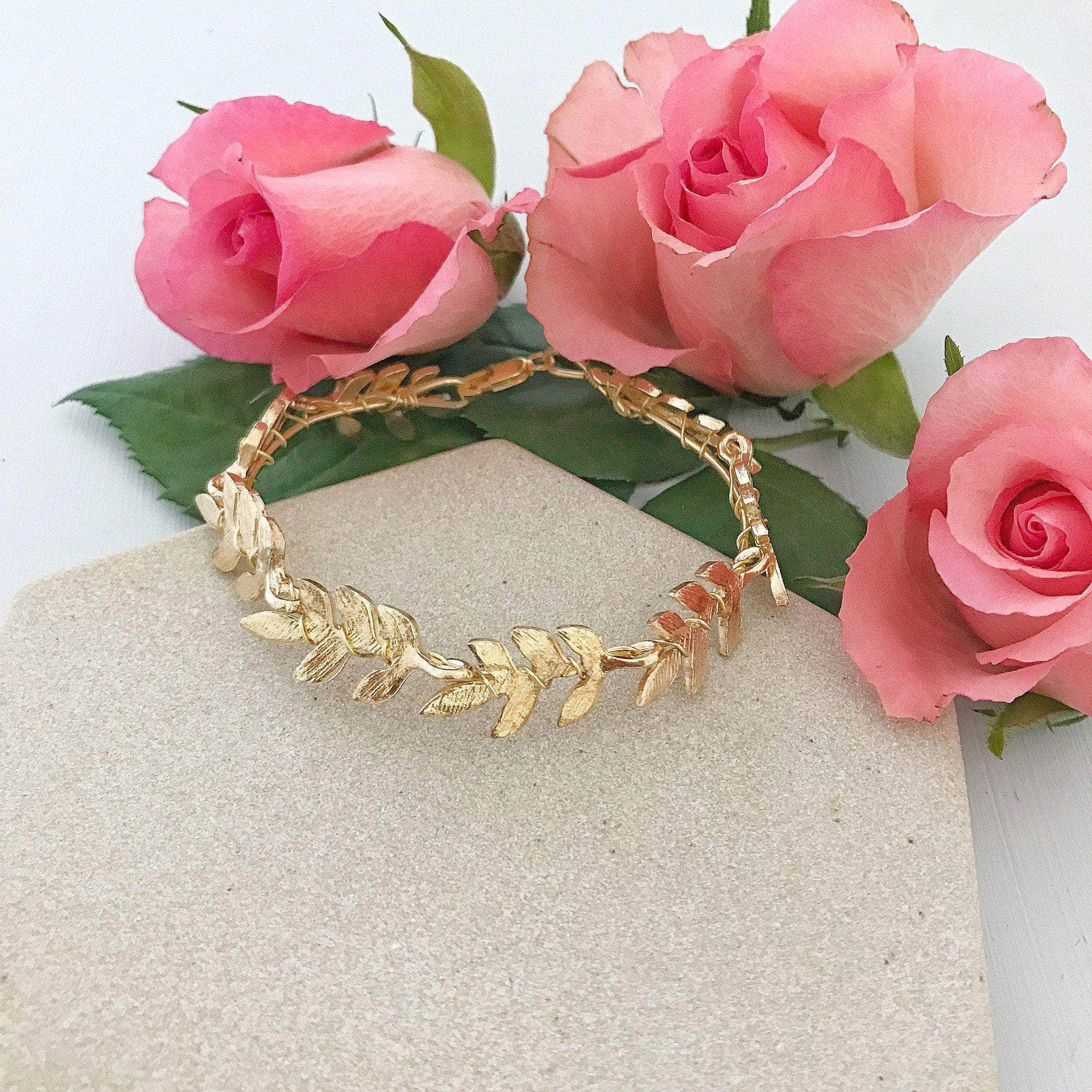gold leaf wedding cuff