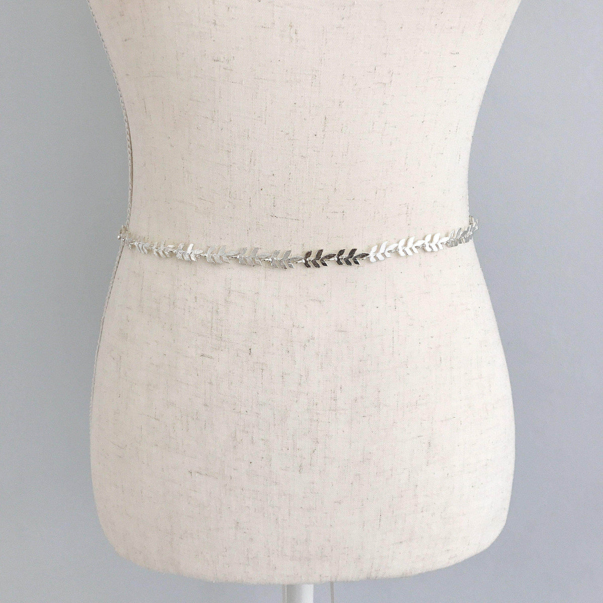 Wedding Belt Silver Silver leaf wedding belt - 'Avani'