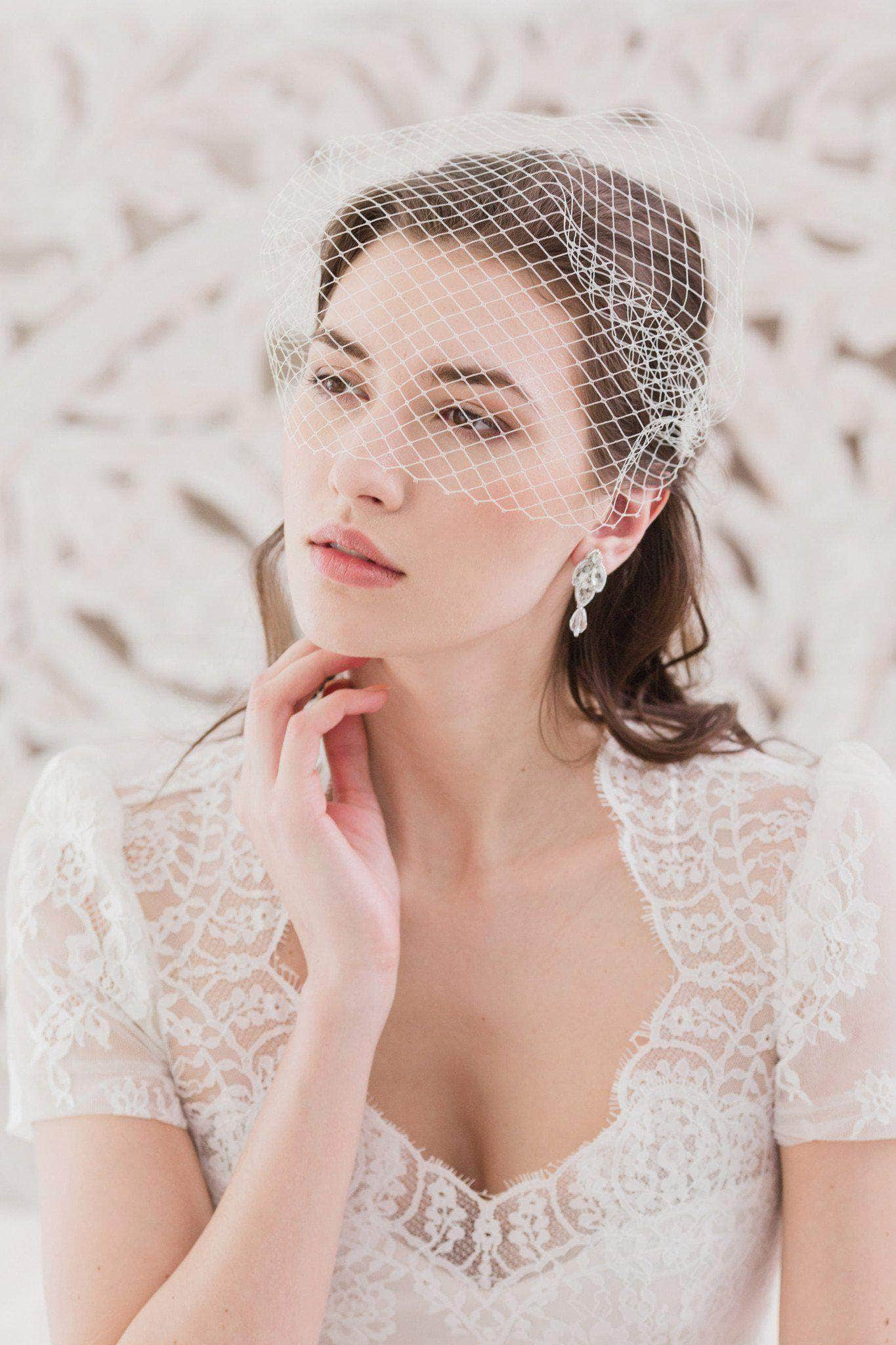 Bandeau wedding veil of Russian net - 'Alexandra'
