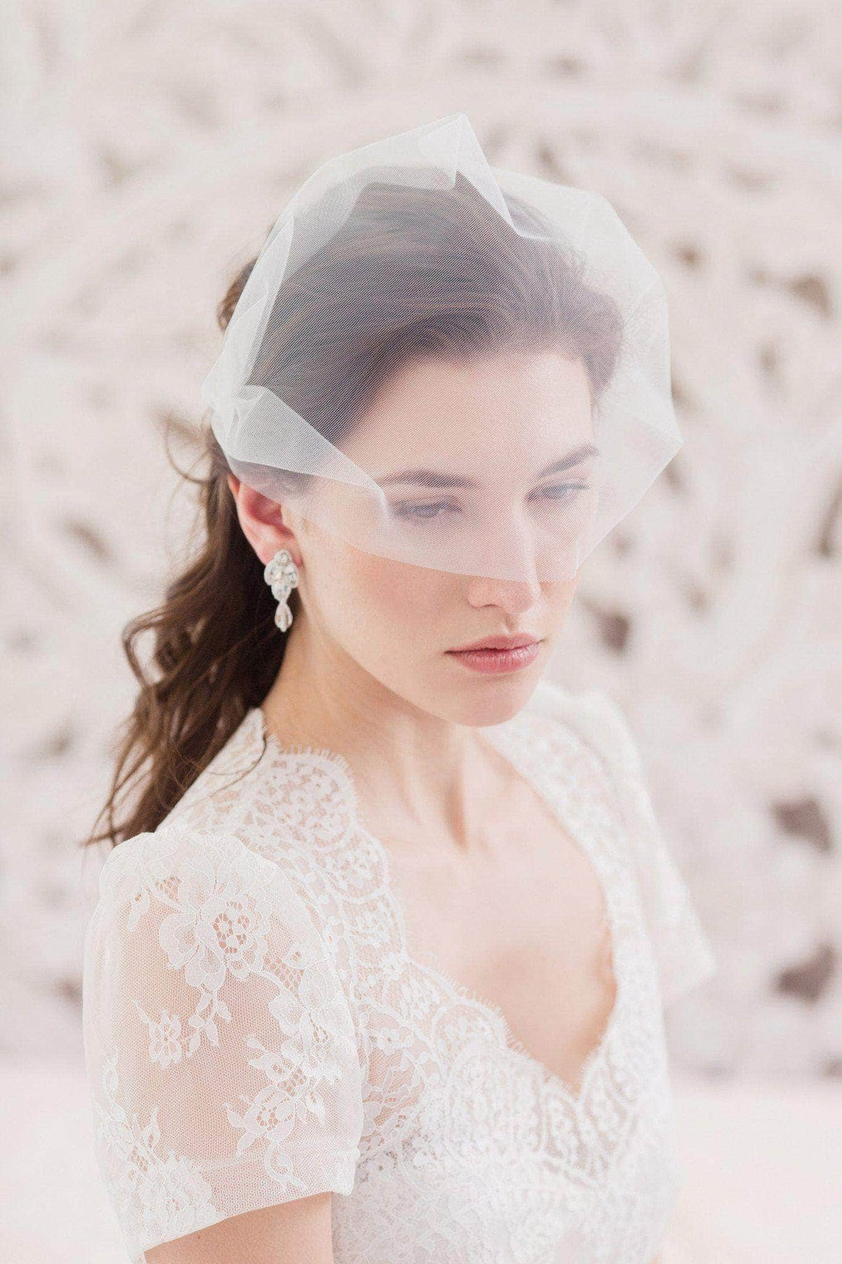 Wedding Veil Bandeau wedding veil - 'Sabra'