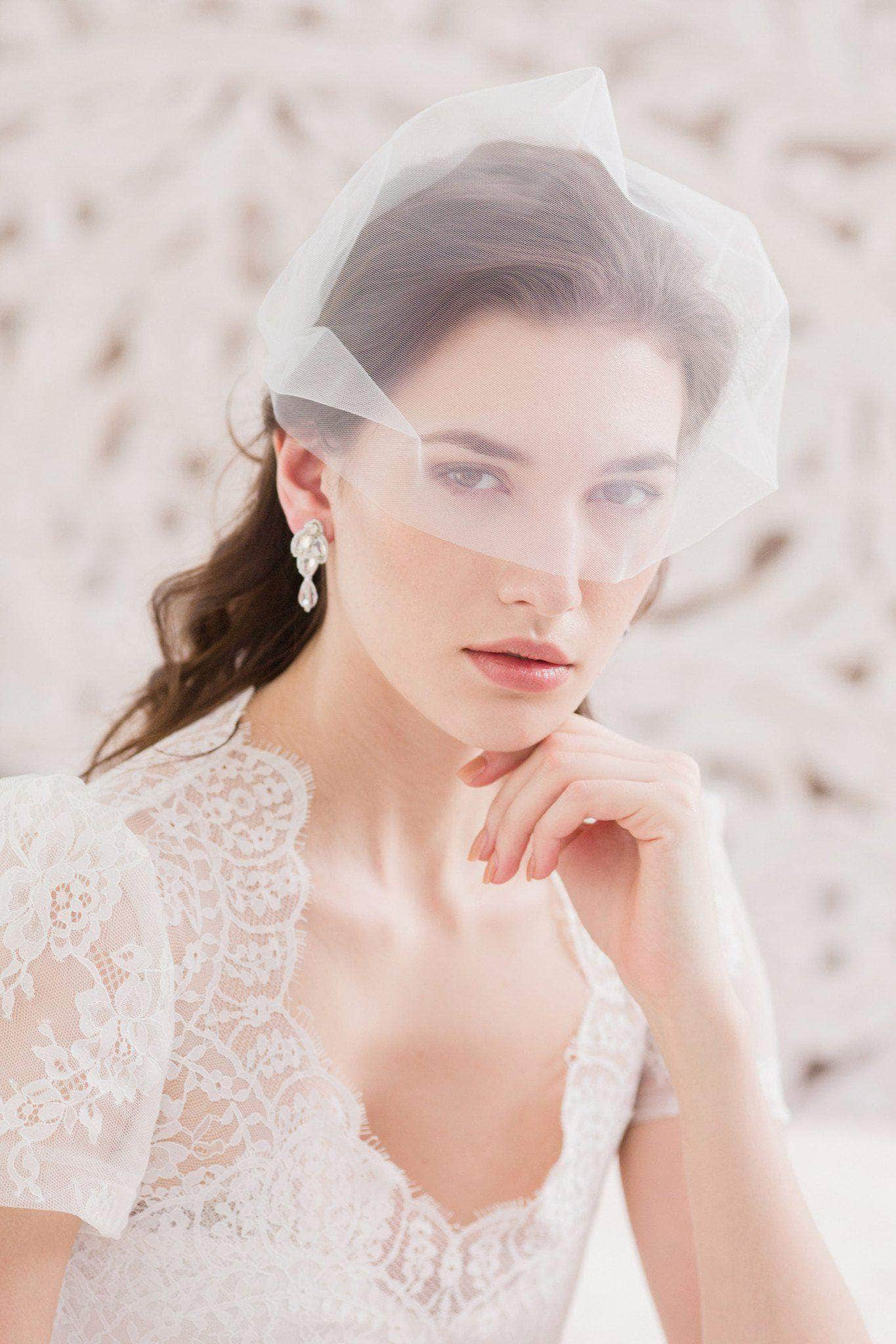 Bandeau wedding veil - 'Sabra' - Britten Weddings