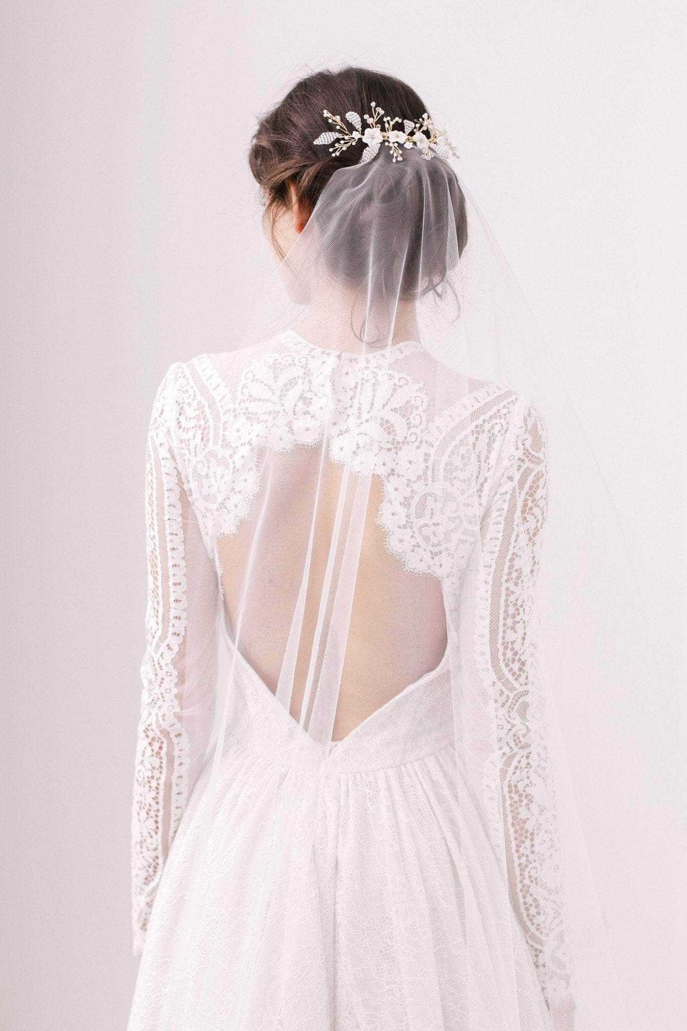 Barely there wedding veil - 'Skylar' - Britten Weddings