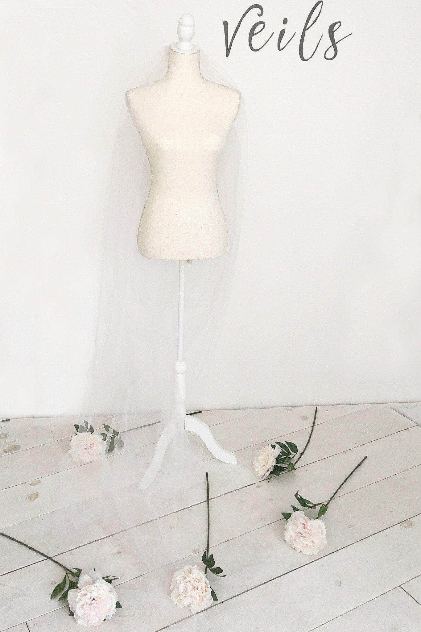 blush pink wedding veil