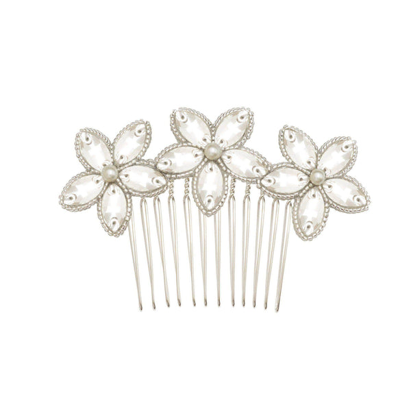 Floral Wedding Hair Comb By Britten