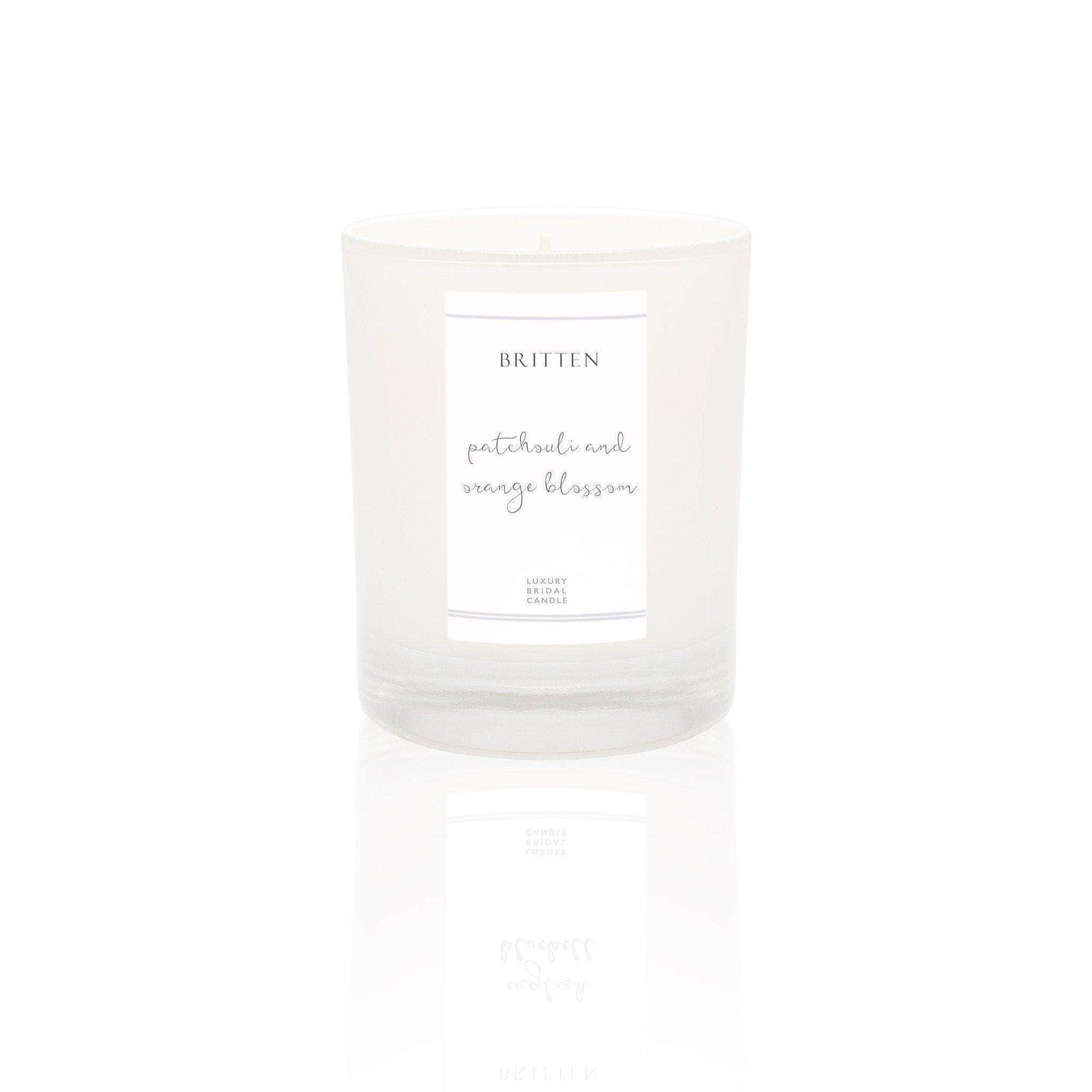 Patchouli & Orange Blossom Essential Oils Luxury Bridal Candle