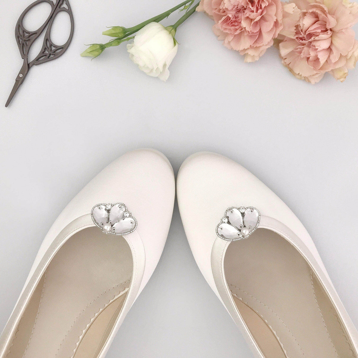 Wedding Shoe Clip Silver Deco wedding shoe clips - 'Casey'