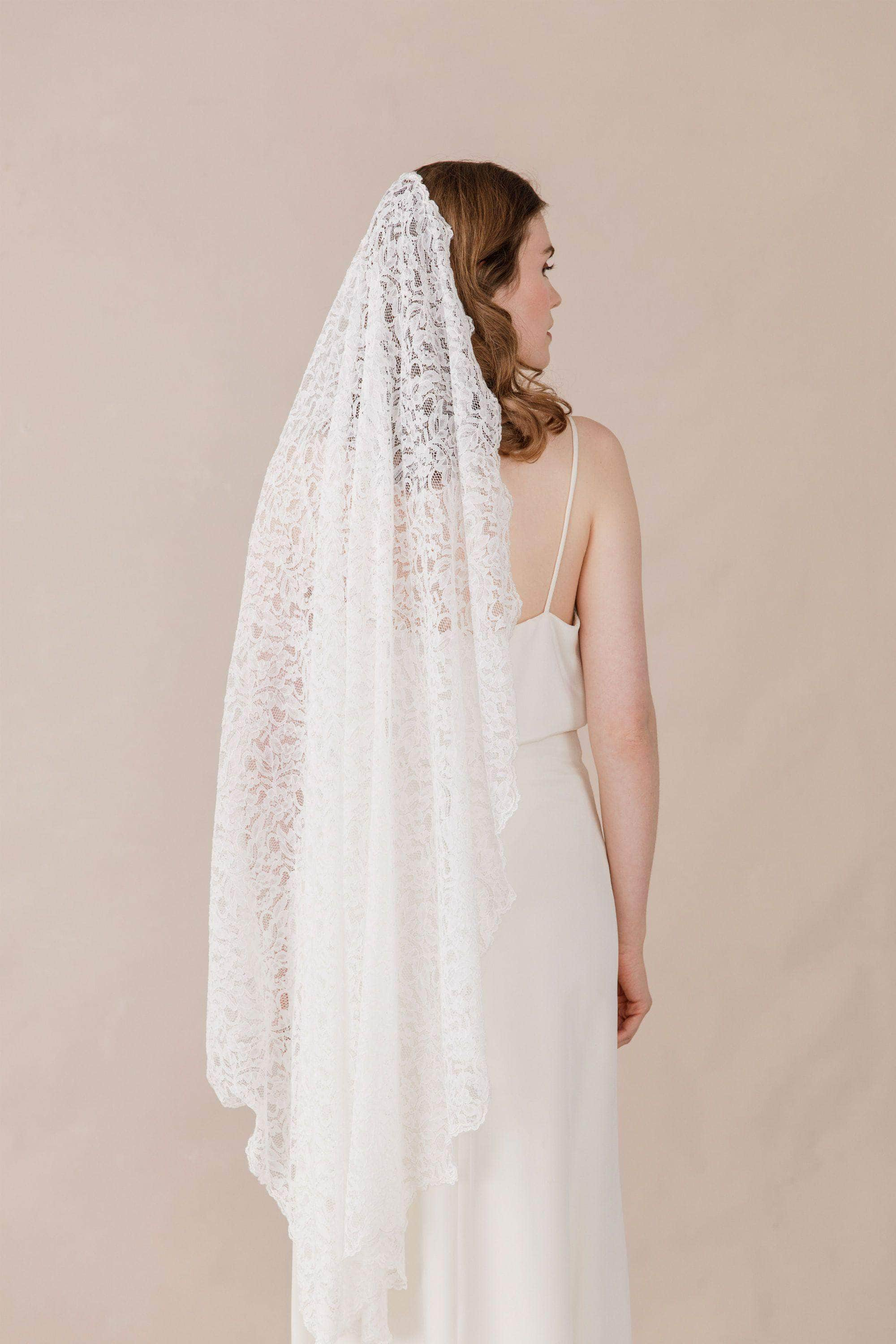 full lace wedding veil