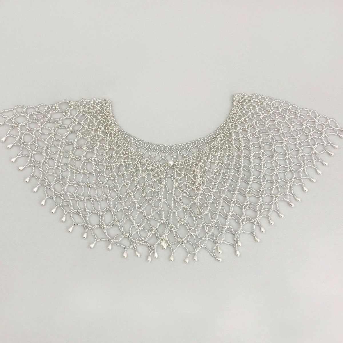 Wedding Cover Up Silver Hand beaded silver capelet cover up - 'Jolie'
